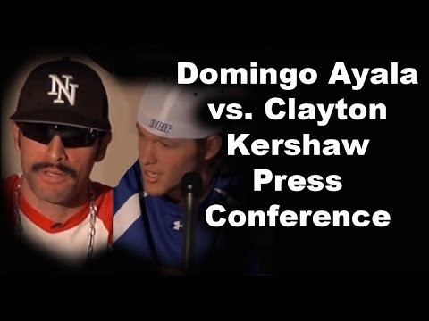 Clayton Kershaw and Domingo Ayala Official Press Conference