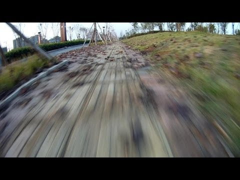 101kmph Quadcopter Back in Fast Park FPV