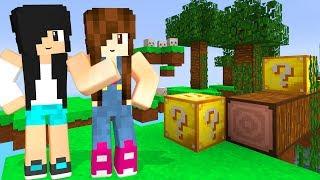 Minecraft - PERIGOS NA CORRIDA DE LUCKY BLOCK