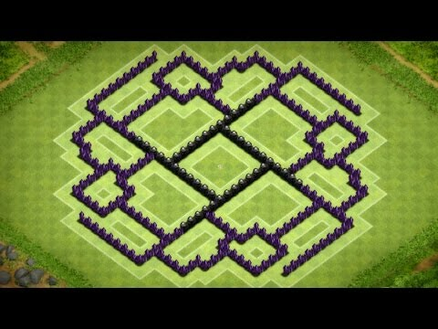 Clash Of Clans - Best Town Hall 9 Farming Base (The Ennead) Speed Build