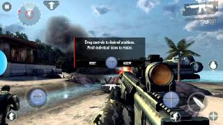 Modern combat 4  android con  sixaxis controller
