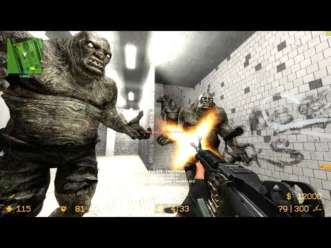Counter Strike Source - Zombie mod Zombie Horror Boss fights - Multiplayer Gameplay on Subway map
