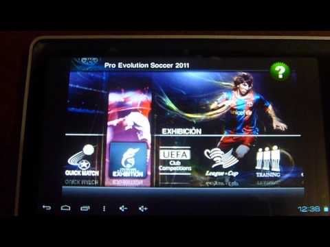 Pes 2011 en Tablet Titan 7010b