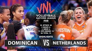 Dominican vs Netherlands   Highlights   Women's VNL 2019