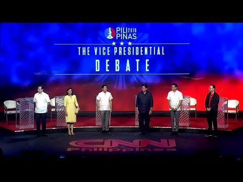 #PiliPinasDebates2016: The Vice Presidential debate