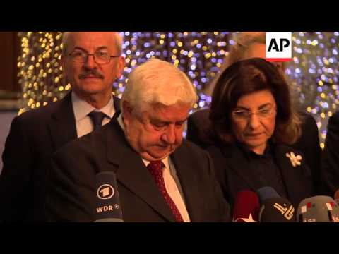 Syrian FM Walid al-Moallem comments on proposal to destroy chemical weapons