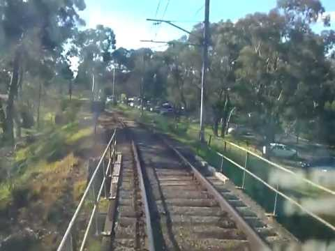 Drivers View: Greensborough To Eltham On A Hitachi Train...