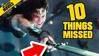 JUSTICE LEAGUE Comic Con Trailer 3 - Things Missed & Easter Eggs by : Mr Sunday Movies
