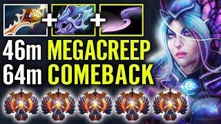 +500 Damage Epic Mega Creep COMEBACK WTF Imba Luna Carry by 1 Digit Rank Moo Dota 2