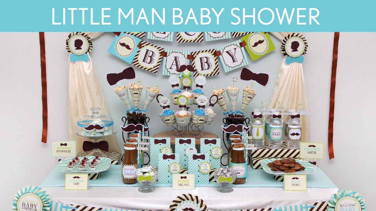 viewing gallery for little man baby shower theme