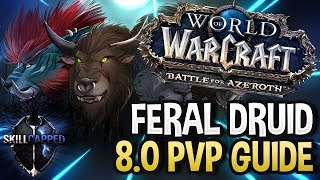 GET STARTED: Feral Druid BfA 8.0 PvP Talents, Azerite Traits and Damage Guide