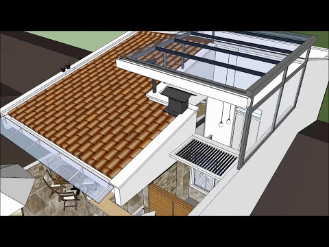 Casa moderna minimalista 6.00 m x 12.50 m, 220 m²