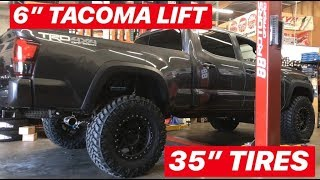 """2018 Tacoma 6"""" Kings Lift on 35"""" Tires with Cab Mount Chop"""