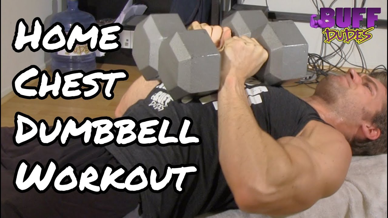 Home chest workout routine best dumbbell exercises youtube