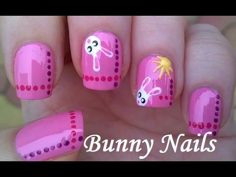 Easter Nail Art Tutorial: Easy Bunny Nails - Aranyos nyuszis köröm tipp