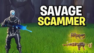 Insane savage scammer flips out! 😆 (Scammer Get Scammed) Fortnite Save The World