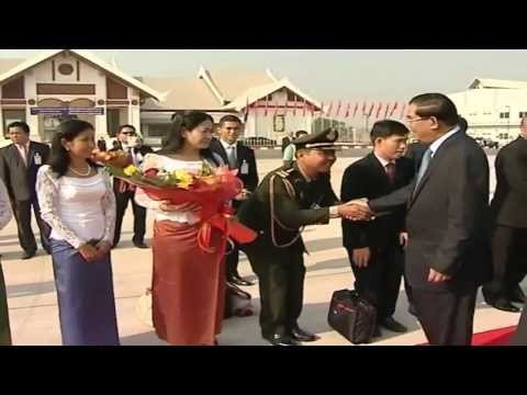 Hun Sen, Prime Minister Of Cambodia  visit In Lao 2 day Lao On February 6, 2014