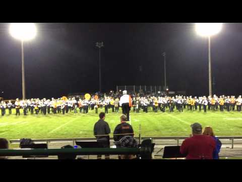 Kaukauna High School marching band - Bobbie Jo Whalen conducting