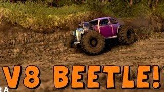 Spin Tires | V8 Beetle Mud Bogger Hot Rod!