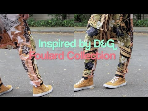 DIY D&G Inspired Foulard Drop Crotch Pants