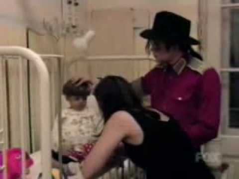 Michael Jackson visits children in the hospital