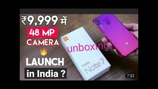 #Xiaomi Redmi note 7 Unboxing and review best phone in 2019
