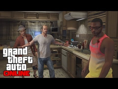 GTA 5 Online Multiplayer Gameplay - Meeting Trevor. Free Roam Bounty Hunting. and Missions