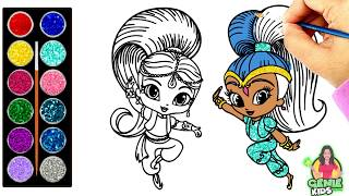 Drawing and Painting Shimmer and Shine