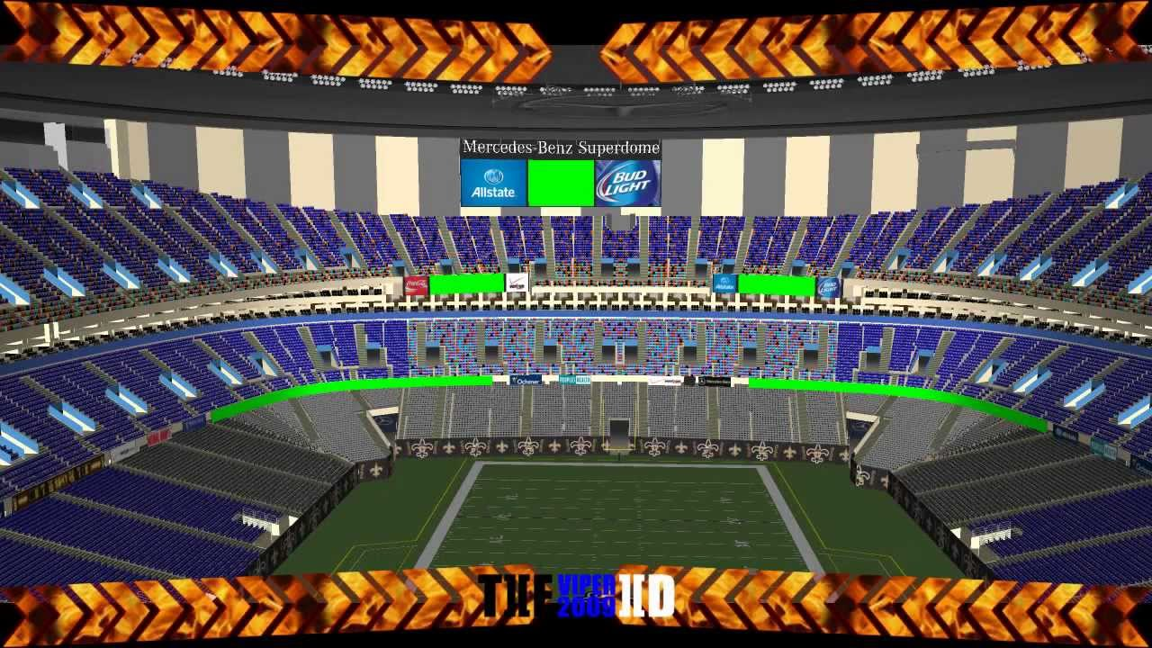 Mercedes benz superdome youtube for Where is the mercedes benz superdome