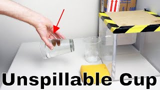 Using Resonant Frequencies To Create An Unspillable Cup