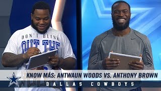 Know Más: Antwaun Woods vs. Anthony Brown | Dallas Cowboys 2018