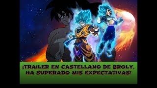 ¡NOTICIA! ¡REACCIÓN AL TRAILER DE DRAGON BALL SUPER BROLY EN CASTELLANO!