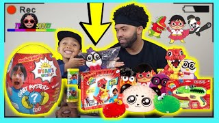 Unboxing+Review RYAN'S WORLD SURPRISE TOY'S  with Tystory |Mystery Slime, Squishy, Bubble Pals|