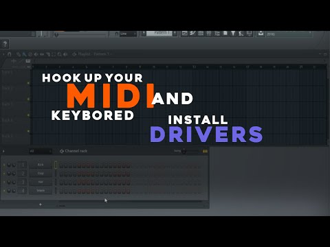How To Set Up Your Yamaha MIDI Keyboard/Piano. Install Drivers. and Play in FL Studio 12