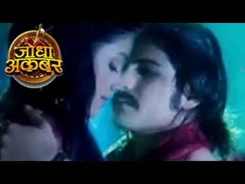 Jodha & Akbar's First On Screen Kiss In Jodha Akbar 7th April 2014 Full Episode video