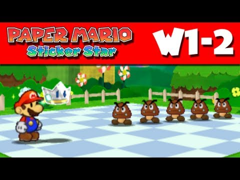 Paper Mario Sticker Star - W1-2 - Bouquet Gardens (Nintendo 3DS Gameplay Walkthrough)