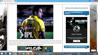How To Download Ipl Game : Apne Pc Me IPL Cricket Game Download Kare 1.7 MB