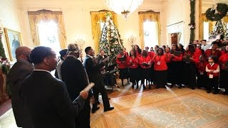 Raw Video: The Four Tops & The Temptations Surprise White House Tours
