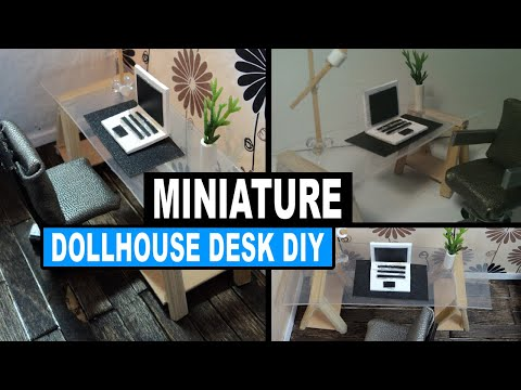 how to make a doll desk