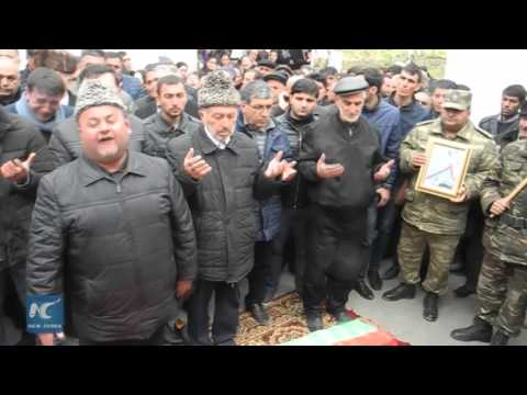 RAW: Funeral held for villager killed in Nagorno-Karabakh conflict