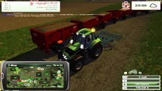 Farming Simulator 2013 - Deutz Fahr 720 and 15 trailers to move