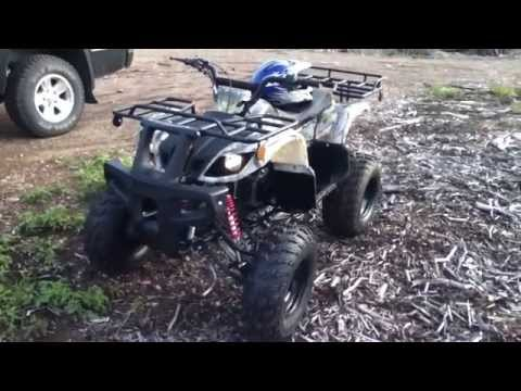2012 model Tao Tao 150cc Chinese ATV first run