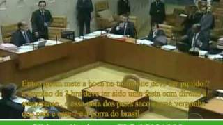 Ministros do STF discutem durante sessão do tribunal JOAQUIM BARBOSA (video completo)