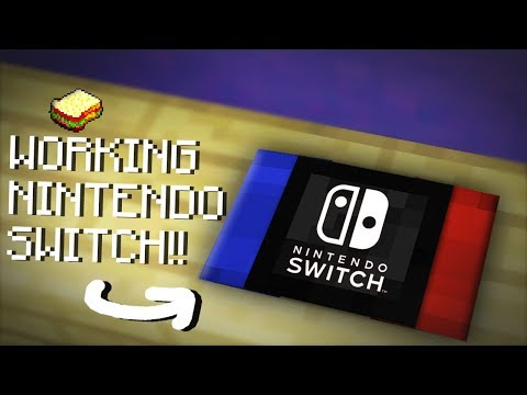 Minecraft   How to make a Working Nintendo Switch   No Mods