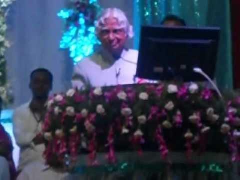 Dr Apj Abdul Kalam Speech Video, In St Ann's Jr College, Hyderabad. video