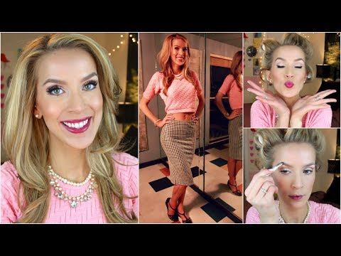 Retro Style Get Ready With Me! (Hair + Makeup)