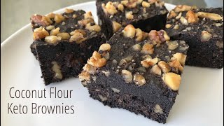 Coconut Flour Keto Brownies