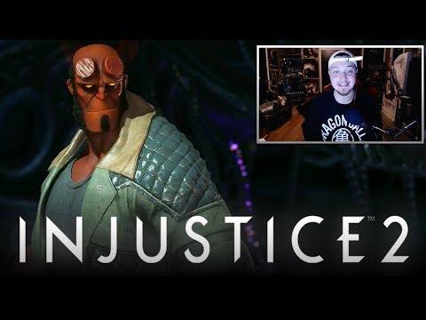 Injustice 2: Hellboy Gameplay Reveal Trailer REACTION! (Injustice 2: Hellboy DLC Character Gameplay)