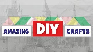 DIY Easy Crafts Tutorial For Children. How To Make Funny Origami Step By Step. Cool Paper Toys