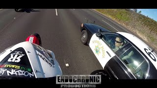 MOTORCYCLE COMPILATION - STUNTS, POLICE CHASES, MORE